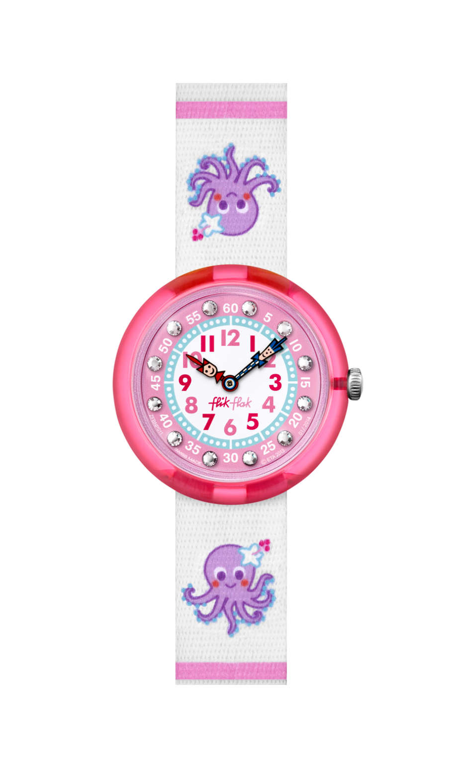 Flik Flak Octostripe, FBNP011C, pink, swatch for kids