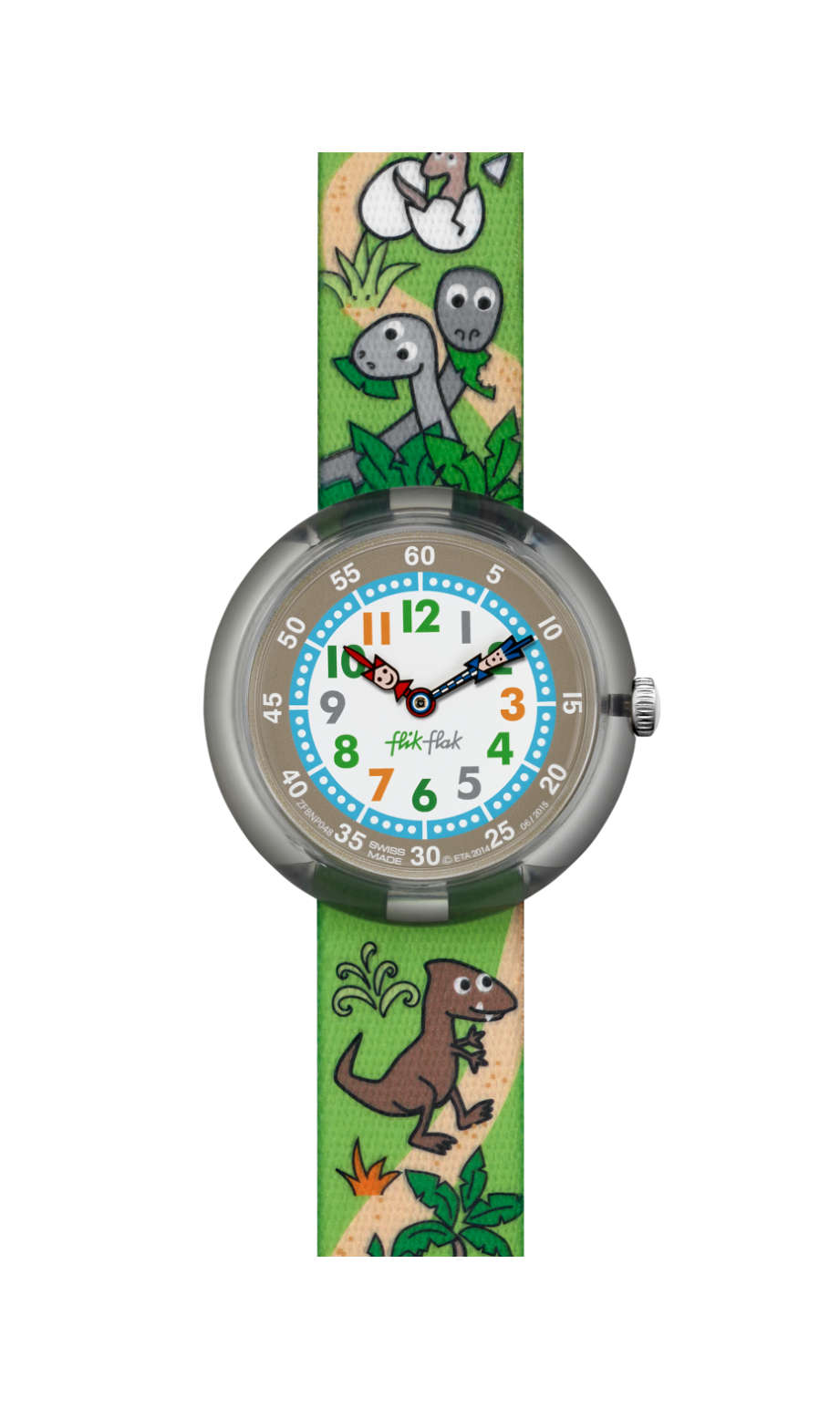 Flik Flak Sauruses Return, FBNP048, kids watch, grey, swatch for kids